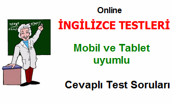 ingilizce testleri test çöz