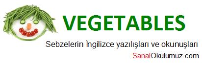 sebzeler ingilizce