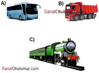 otobüs kamyon tren