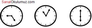 saat üzerinde açılar