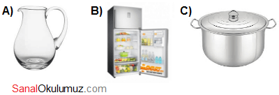 sürahi buzdolabı tencere