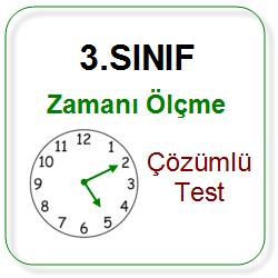 3 Sinif Zamani Olcme Cozumlu Test Sorulari