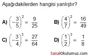 rasyonel sayıların karesi küpü test soru 5