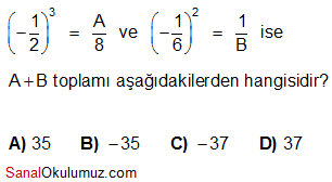 rasyonel sayıların karesi küpü test soru 8