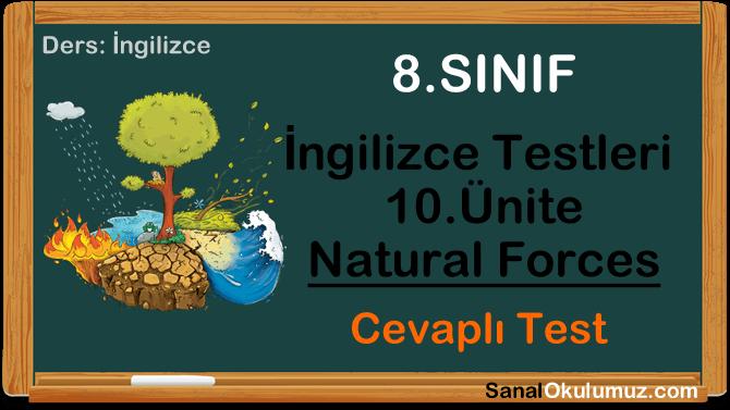 8.sınıf ingilizce testleri 10.ünite test